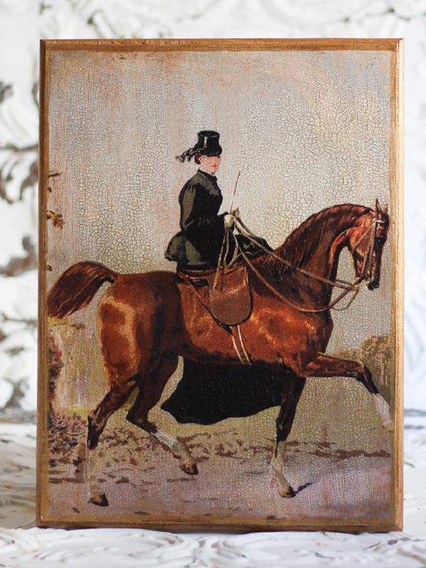 Horsewoman Plaque