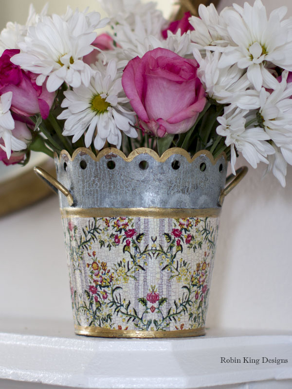 Ivory Dauphine Floral Cachepot