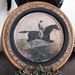 Jumping Horse Plate Red Coat