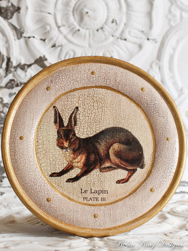 Le Lapin Wood Plate