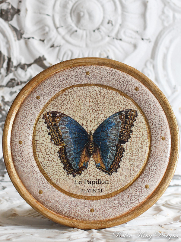 Le Papillon Wood Plate