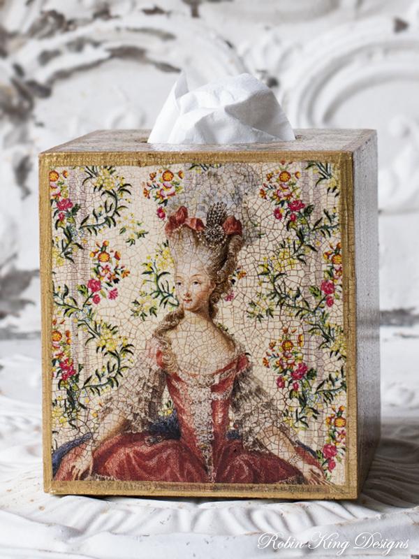 Marie Antoinette Tissue Box Cover