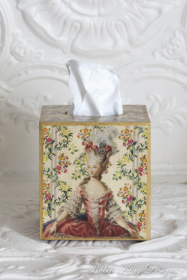 Marie Antoinette Tissue Box Cover