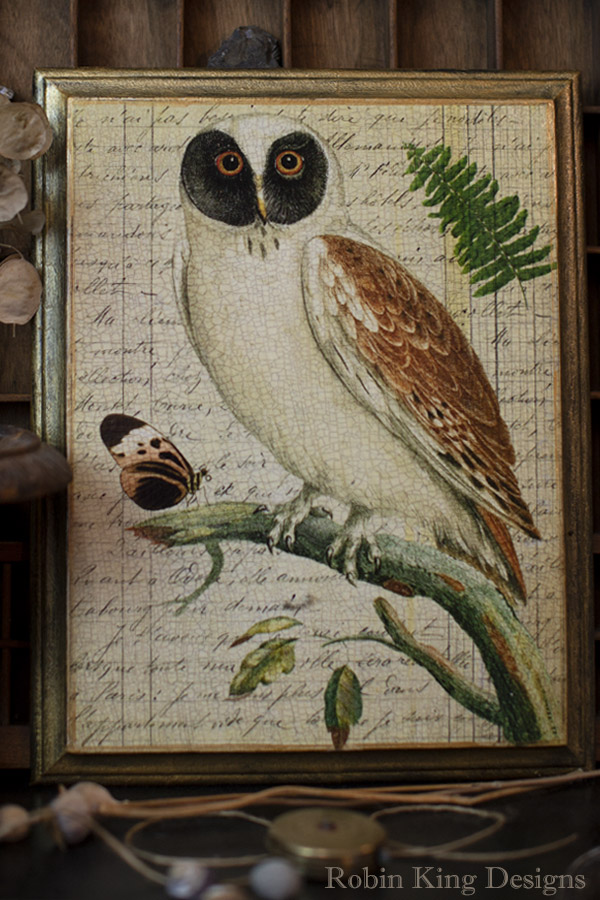 Antique Owl Design Plaque