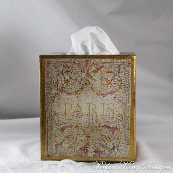 Paris Design Tissue Box Cover