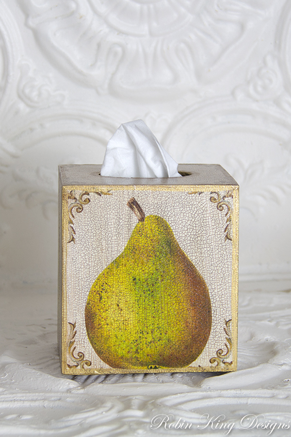 Pear Tissue Box Cover
