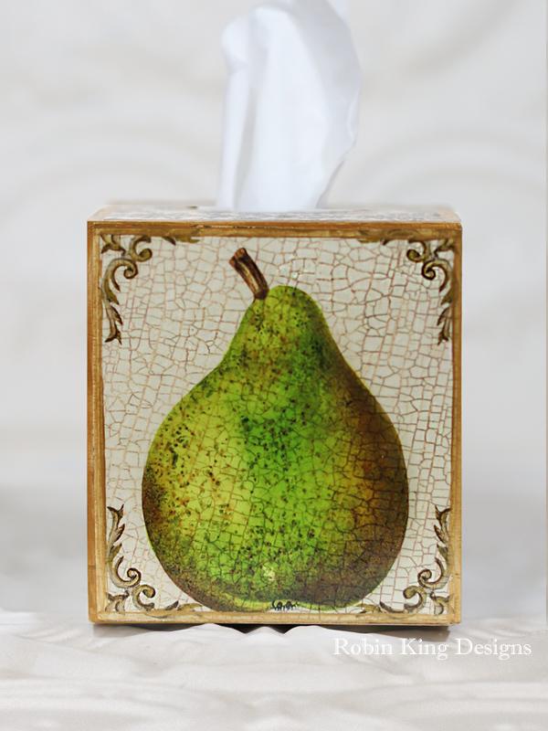 Pear Tissue Box Cover