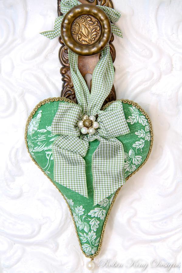 Pierre Deux Vintage Fabric Lavender Heart Sachet