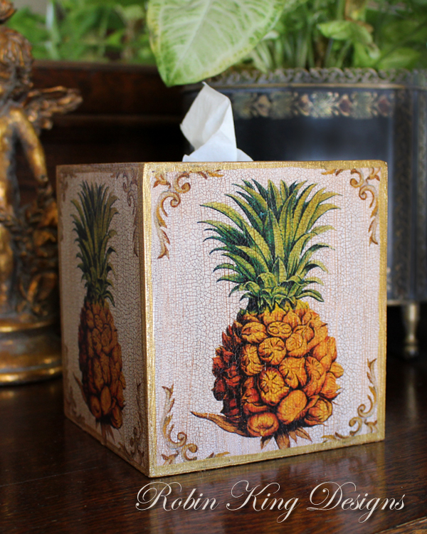 Pineapple Tissue Box Cover