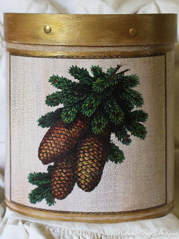 Pine Cone Wastepaper Basket