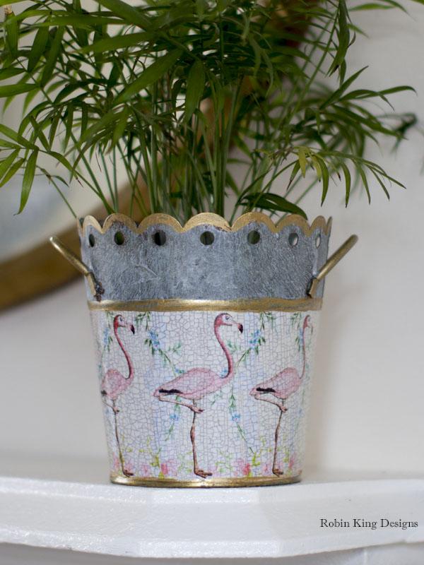 Pink Flamingos Cachepot