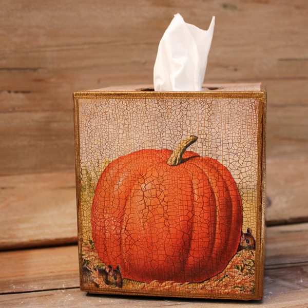 Pumpkin and Mice Tissue Box Cover