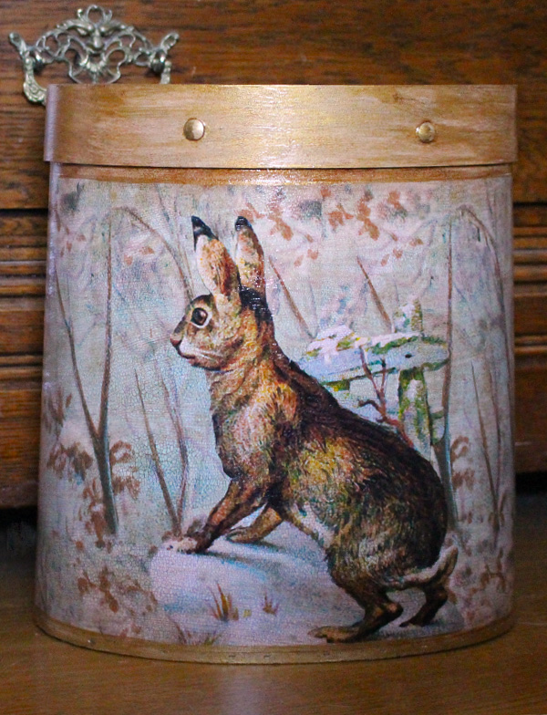 Rabbit Collage Wastepaper Basket