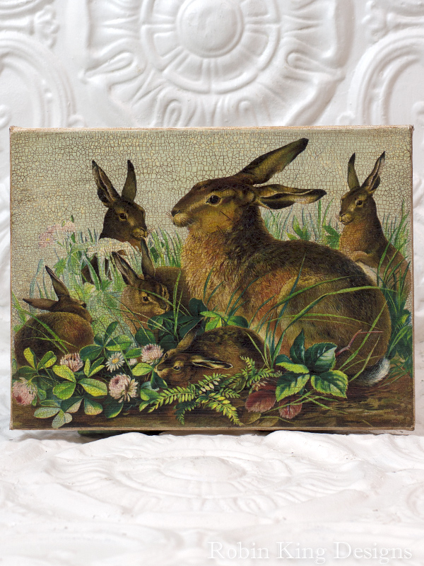 Rabbit Family Canvas