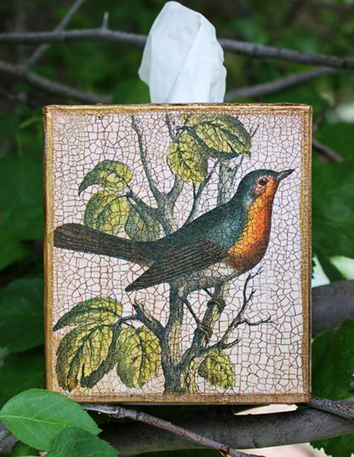 Robin Tissue Box Cover