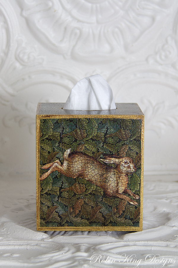 Running Rabbit Tissue Box Cover