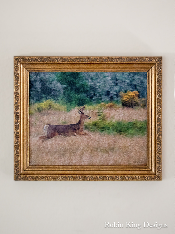 Running Deer Canvas 8 by 10 Inches