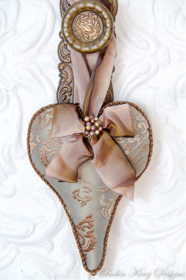 Embroidered Silk Lavender Heart Sachet