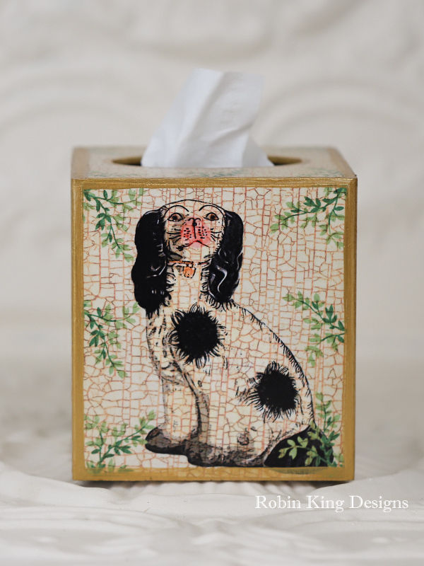 Staffordshire Dog Tissue Box Cover