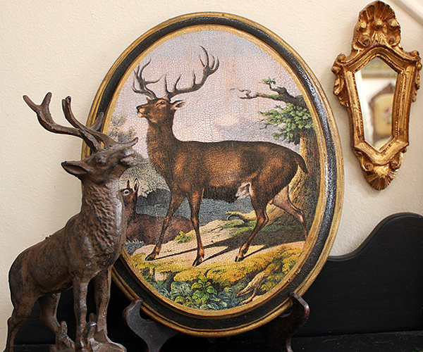 Stag Plaque Oval 11 by 14 inches