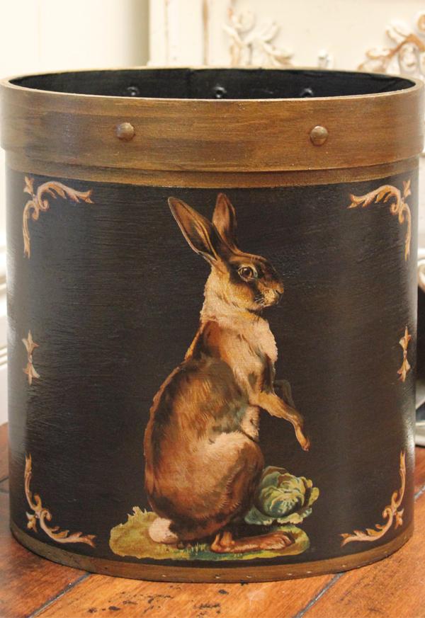 Standing Hare Black Wastepaper Basket