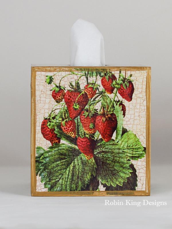 Strawberries Tissue Box Cover