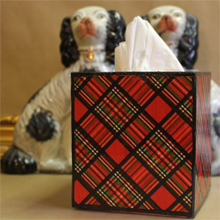 Tartan Tissue Box Cover