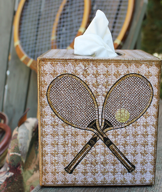 Tennis Tissue Box Cover