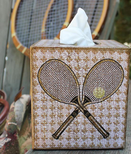Tennis Tissue Box Cover