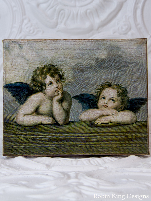 Two Sweet Cherubs Canvas Art
