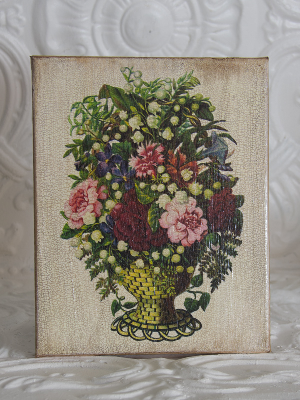 Victorian Flowers on Canvas