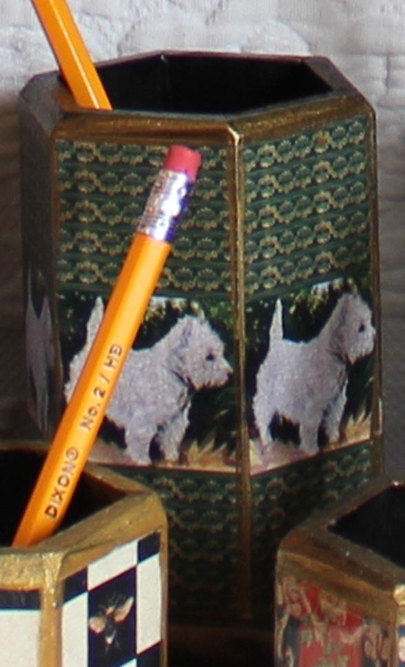 Westie Pencil Holder