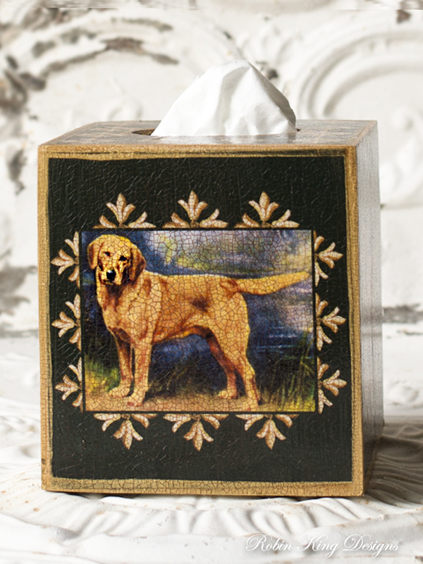 Yellow Labrador Tissue Box Cover