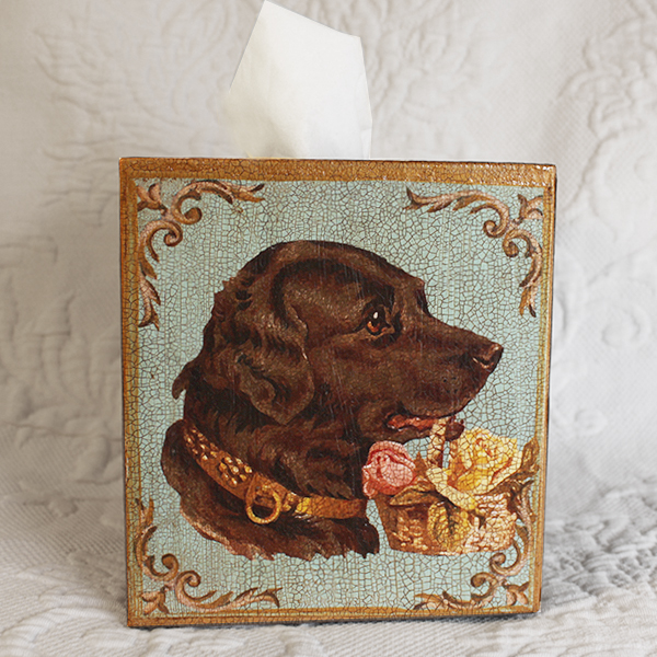Chocolate Lab Tissue Box Cover