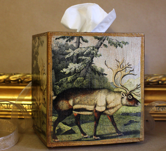 Reindeer Tissue Box Cover